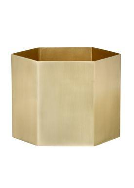 Ferm Living - Krukke - Hexagon Pot - XLarge - Messing