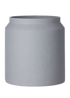 Ferm Living - Krukke - Outdoor Pot - Lysegrå - Large