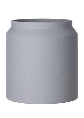 Ferm Living - Krukke - Outdoor Pot - Lysegrå - Large