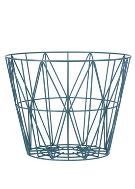 Ferm Living - Kurv - Wire Basket - Large - Petrol