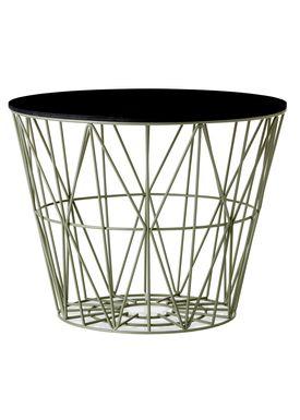 Ferm Living - Kurv - Wire Basket - Large - Støvet Grøn