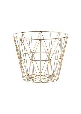 Ferm Living - Kurv - Wire Basket - Medium - Brass