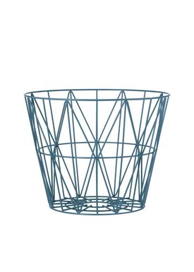 Ferm Living - Kurv - Wire Basket - Medium - Petrol