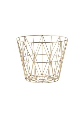 Ferm Living - Kurv - Wire Basket - Small - Brass