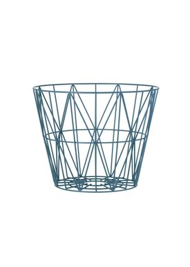 Ferm Living - Kurv - Wire Basket - Small - Petrol