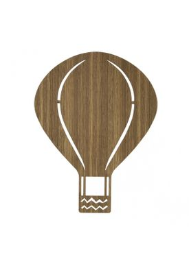 Ferm Living - Lamp - Ferm Childrens Lamp Smoked Oak - Air Balloon: Røget Eg