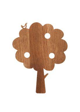 Ferm Living - Lamp - Ferm Childrens Lamp Smoked Oak - Tree: Smoked Oak