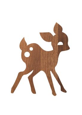 Ferm Living - Lamp - Ferm Childrens Lamp Smoked Oak - Deer: Smoked Oak