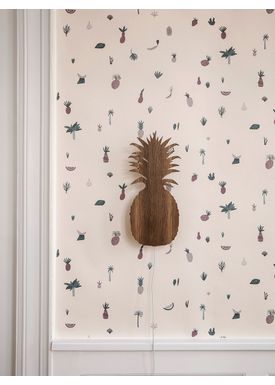 Ferm Living - Lamp - Ferm Childrens Lamp Smoked Oak - Pineapple: Smoked Oak