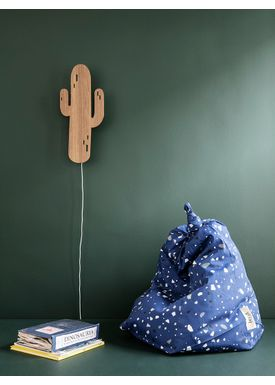 Ferm Living - Lamp - Ferm Childrens Lamp Smoked Oak - Cactus: Smoked Oak