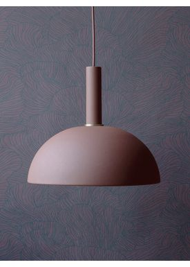 Ferm Living - Lampa - Shades - Dome - Red Brown
