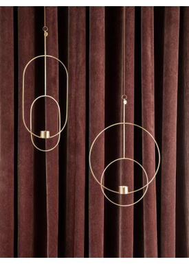 Ferm Living - Candle Holder - Hanging Tealight  - Circular Brass