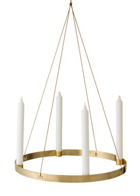 Ferm Living - Candlestick - Candle Holder Circle - Large - Brass