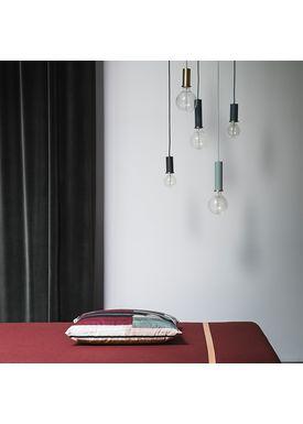 Ferm Living - Pendler - Socket Pendant - Støvet Blå - Low