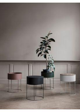 Ferm Living - Plantestand - Plant Box - Round - Mørke Grøn