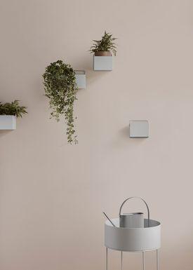 Ferm Living - Piedestal - Plant Box - Light Grey