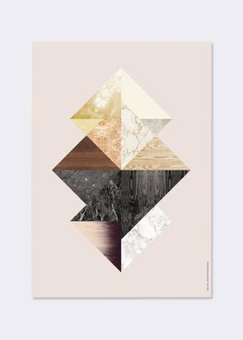Ferm Living - Poster - Wooden Illustrations - Triangel Fusion