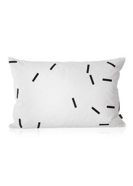 Ferm Living - Pude - Black Mini Sticks Cushion - Sort/hvid