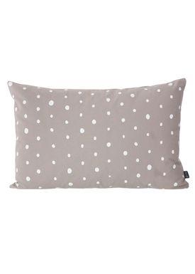 Ferm Living - Pude - Dotted Cushion - Varm grå / hvid