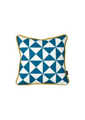 Ferm Living - Pude - Little Geometry Cushion - Blå/karry