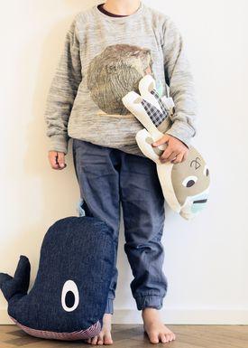 Ferm Living - Pude - Printed Kids Cushion - Mr. Cat