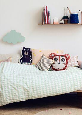 Ferm Living - Pude - Printed Kids Cushion - Mr. Bear