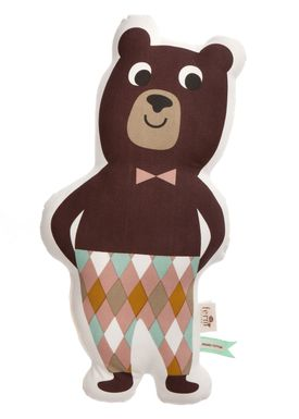 Ferm Living - Cushion - Printed Kids Cushion - Mr. Bear