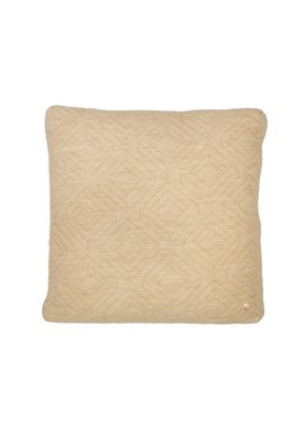 Ferm Living - Pude - Quilt Cushion - Kamel 45 x 45