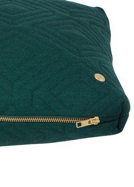 Ferm Living - Cushion - Quilt Cushion - Dark green 40 x 60
