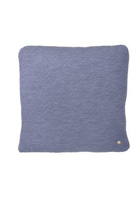Ferm Living - Cushion - Quilt Cushion - Light blue 45 x 45