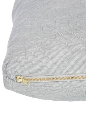 Ferm Living - Cushion - Quilt Cushion - Light grey 40 x 60