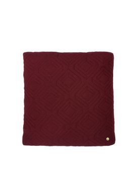 Ferm Living - Pude - Quilt Cushion - Bordeaux 45 x 45