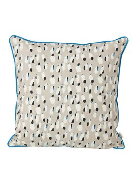 Ferm Living - Pude -  Spotted Cushion - Grå
