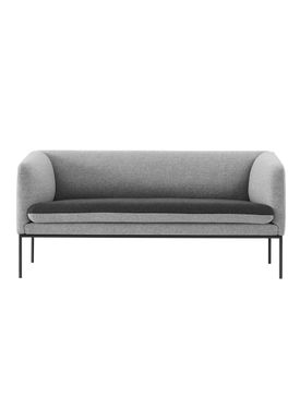 Ferm Living - Sofa - Turn Sofa - Wool mix - Light grey w. dark grey seat