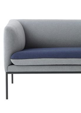 Ferm Living - Sofa - Turn Sofa - Cotton mix - Light grey w. blue seat