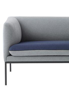 Ferm Living - Sofa - Turn Sofa - Cotton mix - Light grey w. blue seat