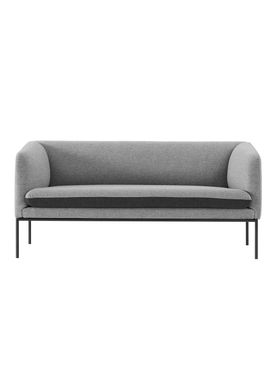 Ferm Living - Sofa - Turn Sofa - Wool mix - Light grey w. dark grey seat
