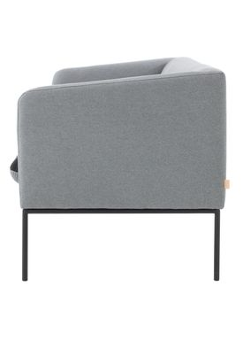 Ferm Living - Sofa - Turn Sofa - Cotton mix - Light grey w. dark grey seat