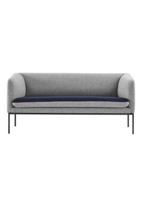 Ferm Living - Sofa - Turn Sofa - Wool mix - Light grey w. blue seat