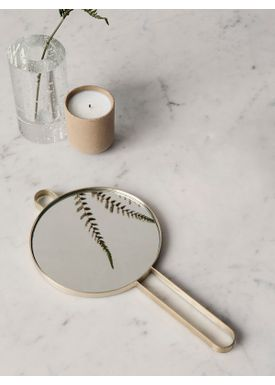 Ferm Living - Spegel - Poste Hand Mirror - Brass
