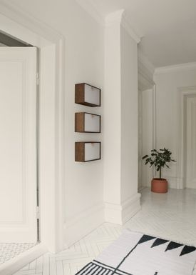 Ferm Living - Carpet - Kelim Rug- Black Lines - Small
