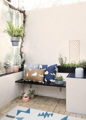 Ferm Living - Carpet - Kelim Rug- Blue Triangles - Large
