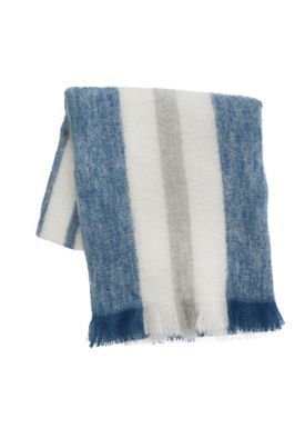 Ferm Living - Tæppe - Mohair Throw - Blue
