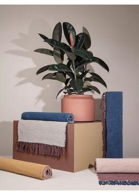 Ferm Living - Tæppe - Nomad Rug - Dark Blue Small