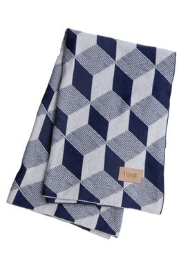 Ferm Living - Carpet - Squares Blanket - Blue