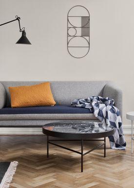 Ferm Living - Tæppe - Squares Blanket - Blue