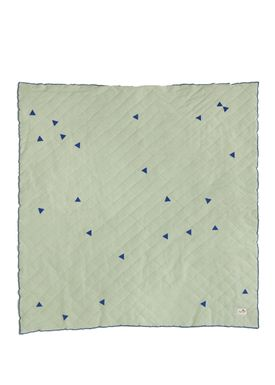 Ferm Living - Tæppe - Teepee Quilted Blanket - Mint/Blå