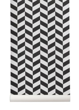 Ferm Living - Wallpaper - Angle Wallpaper - Black