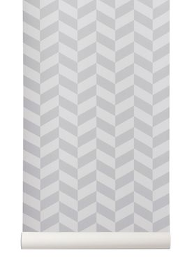 Ferm Living - Tapet - Angle Wallpaper - Grå