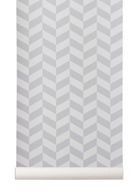 Ferm Living - Tapet - Angle Wallpaper - Grå